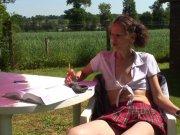 Sophie Land une étudiante à éduquée
